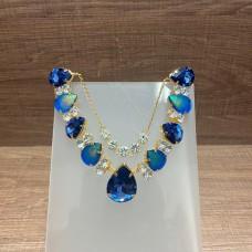 Cabedal Azul Cintilante com Correntinha - Crisalys