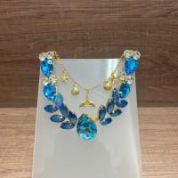 Cabedal de Sereia Azul e holográfico - Crisalys