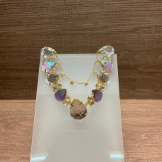 Cabedal com Pedras de Sereia Cristal com Correntinha - Crisalys