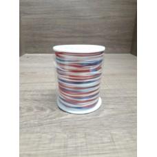 Cordão Mesclado Azul/Vermelho/Branco 1mm 100 metros