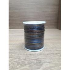 Cordão Mesclado Azul / Marrom 1mm 100 metros
