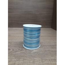 Cordão Mesclado Azul / Branco 1mm 100 metros