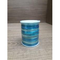 Cordão Mesclado Azul / Verde - Água 1mm 10 metros