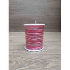 Cordão Mesclado Branco / Rosa 1mm 100 metros 2ª Linha