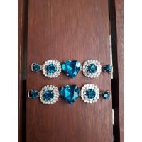 Cabedal de Coração lateral azul