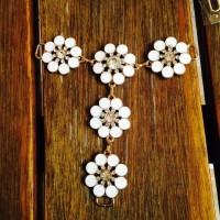 Cabedal de flores (par)