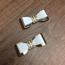 Laço de Metal Dourado e Branco